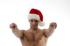julen svalnar muskulöst slitage för hattman Royaltyfri Foto