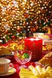 Julen table seten Royaltyfri Fotografi