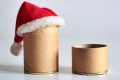 Julen time för papppackar royaltyfria foton