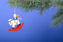 julen toy trä Fotografering för Bildbyråer