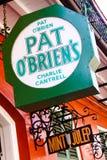 Julep de menta de la barra de OBriens de la palmadita de New Orleans Imagenes de archivo