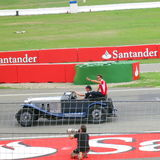 Jules Bianchi on Formula One Parade - F1 Photos Royalty Free Stock Photography