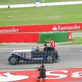 Jules Bianchi sur le défilé de Formule 1 - photos F1 photographie stock libre de droits