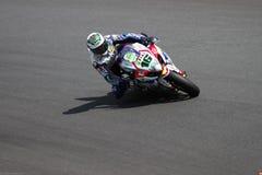 Jules Cluzel #16 på Suzuki GSX-R1000 med Fixi Crescent Suzuki Team Superbike WSBKSuperbike WSBK Royaltyfri Foto
