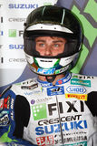 Jules Cluzel #16 på Suzuki GSX-R1000 med Fixi Crescent Suzuki Team Superbike WSBKSuperbike WSBK Arkivfoton