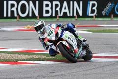 Jules Cluzel #16 på Suzuki GSX-R1000 med Fixi Crescent Suzuki Team Superbike WSBKSuperbike WSBK Arkivbilder