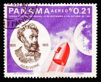 Jules Verne i rakieta, Jules Verne seria około 1966, zdjęcia stock