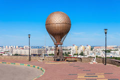 Jules Verne Monument Arkivbild