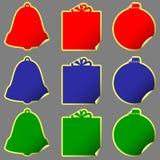juletiketter vektor illustrationer