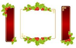 juletiketter stock illustrationer