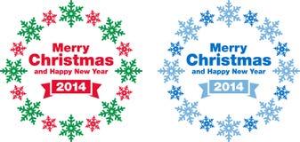 Juletiketter och garneringar Royaltyfri Fotografi