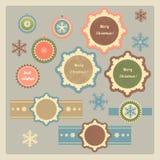 Juletiketter och klistermärkear Royaltyfri Bild
