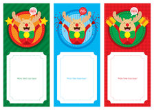 Juletikettspris eller banerdesign Arkivfoto