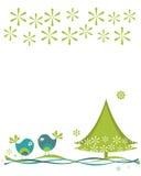 Julfåglar vektor illustrationer
