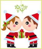 julförälskelse vektor illustrationer