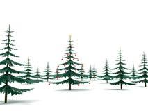 julför metal den moderna treen stock illustrationer