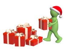 julförberedelse Arkivbilder