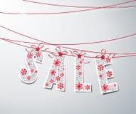 Julförsäljning stock illustrationer