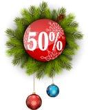 Julförsäljning 50% Arkivbilder