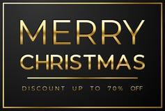 Julförsäljning på svart bakgrund vektor illustrationer