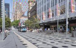 Julförsäljningar, Bourke Street, Melbourne, Australien Royaltyfri Fotografi
