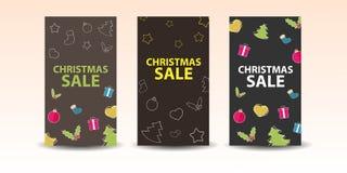 Julförsäljningsbaner Royaltyfria Foton