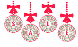 Julförsäljningsbollar Royaltyfri Foto