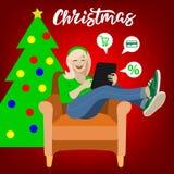 Julförsäljningsillustration stock illustrationer