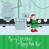 Julfabriksillustration Arkivfoto