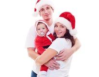 Julfamilj Fotografering för Bildbyråer