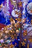Julferie som blinkar abstrakt bakgrund Royaltyfria Foton