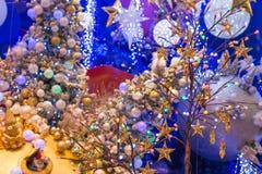 Julferie som blinkar abstrakt bakgrund Arkivbild