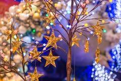 Julferie som blinkar abstrakt bakgrund Arkivfoto