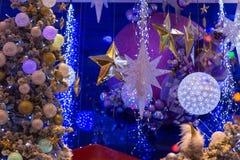 Julferie som blinkar abstrakt bakgrund Royaltyfri Fotografi