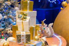 Julferie som blinkar abstrakt bakgrund Fotografering för Bildbyråer