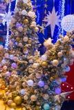 Julferie som blinkar abstrakt bakgrund Royaltyfri Foto