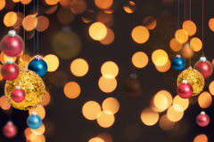 Julferiebakgrund över vinterbokeh Fotografering för Bildbyråer