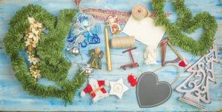 Julferiekort Fotografering för Bildbyråer