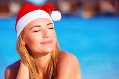 Julferier på exotiskt land Royaltyfri Fotografi