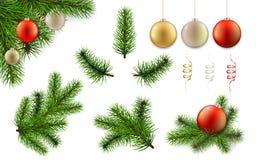 Julfilial och bolluppsättning Royaltyfri Foto