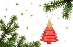 Julfilialer och garnering Arkivfoton