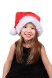 julflicka little som är nätt fotografering för bildbyråer