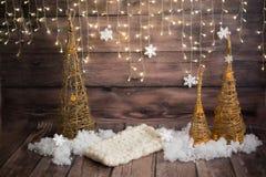 Julfotozon white för juldekorisolering handgjord tree för jul royaltyfri foto