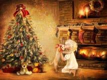 julgåva stock illustrationer
