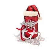 Julgåva från det Santa Claus locket Arkivfoto