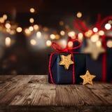 Julgåva som slås in beautifully arkivfoton