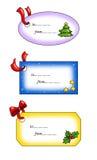 julgåvaetiketter Arkivfoton