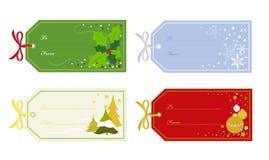 julgåvaetiketter Arkivbild