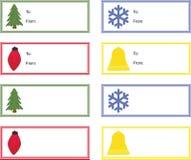 julgåvaetiketter Royaltyfri Bild