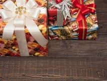 Julgåvor ar redan köpta och ar packade Royaltyfri Foto